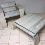 Steigerhout zetel en tafel