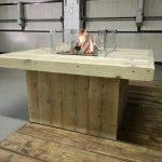 Steigerhout vuurkorf tafel