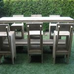 Steigerhout hoge tafel met krukken